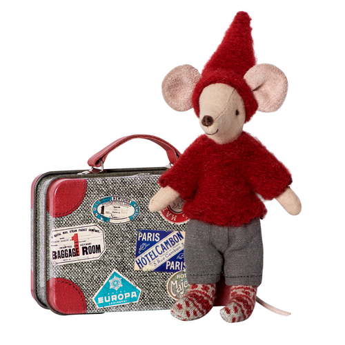 Travel Pixie Mouse in Suitcase