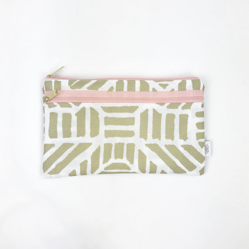 Wet + Dry Wallet, Gold Tribal