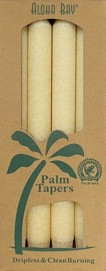 Palm Wax Taper - Creme