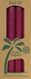 Palm Wax Taper - Burgundy