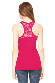 Lace Racerback Tank with Spoiled Rhinestone