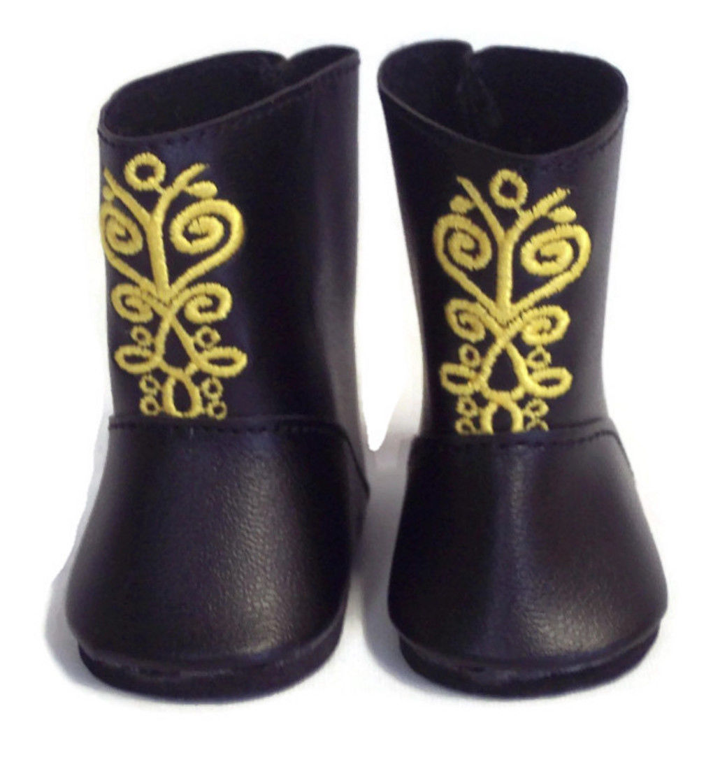 Frozen anna boots for american girl doll clothes or 18 inch dolls