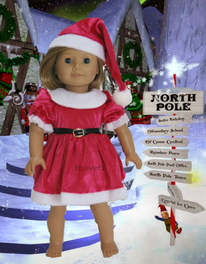 American girl doll clothes christmas outfits for 18 inch doll and 18