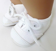 White Canvas Tennis Shoes
