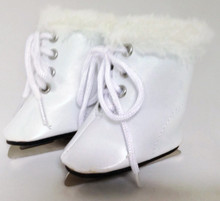 Ice Skates-White with Fur Trim