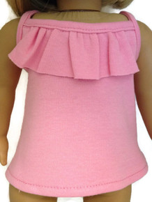 Ruffled Tank Top-Pink