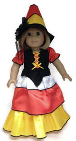 Candy Corn Halloween Witch Gown & Hat