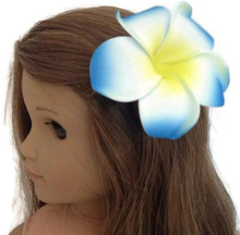 Hawaiian Hair Clip-Blue