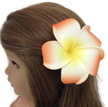 Hawaiian Hair Clip-Orange