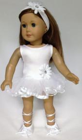Ballerina, Headband, & Ballet Slippers-White