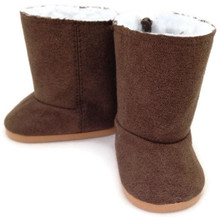 Suede Fur Lined Boots-Brown