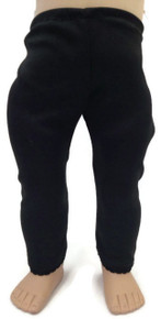Knit Leggings with Lace Trim by Sophia's-Black