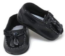 Black Loafer Shoes with Tassel