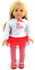 "Valentine ""Be Mine"" Red & White Legging Outfit"