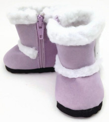 Shearling Boots-Lavender