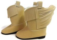 Suede Cowboy Boots-Tan
