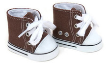 High Top Canvas Sneakers-Brown