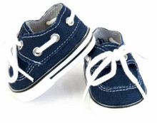 Canvas Boat Shoes-Navy