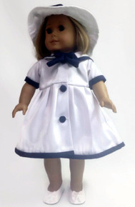 Sailor Dress with Matching Hat