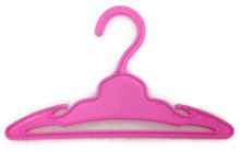 1 Plastic Hanger with Slit-Pink