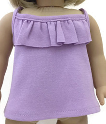 Ruffled Tank Top-Lavender