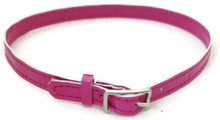 Belt with Silver Buckle-Pink