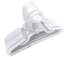 Hangers-White Plastic 1 Dozen by Brittany's