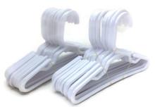 Hangers-White Plastic 2 Dozen by Brittany's