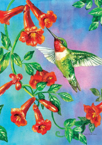 Humming Bird garden Flag