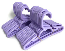 24 Plastic Hangers-Lavender for Wellie Wishers Dolls