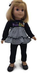 Halloween Peek-A-Boo Top & Black Leggings