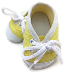Canvas Tennis Shoes-Yellow
