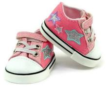 Glitter & Stars Tennis Shoes-Pink
