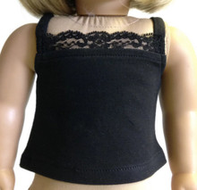 Camisole with Lace-Black