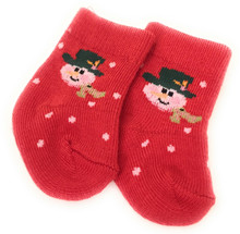 Red Snowman Knit Sport Socks