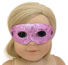 Halloween Mask-Pink Glitter