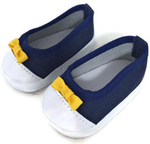 Canvas Slip on Tennis Shoes-Navy