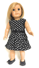 Polka Dot Dress-Black & White
