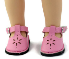 Mary Jane Shoes-Pink for Wellie Wishers Dolls