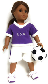 Purple USA Soccer Short Set and Soccer Ball