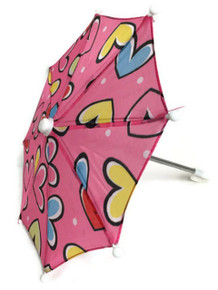 Umbrella-Pink with Hearts