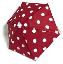 Umbrella-Red with White Polka Dots