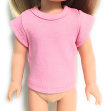 Capped Sleeved Knit Top-Pink for Wellie Wishers Dolls