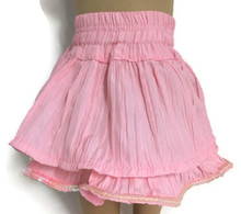 Ruffled Skirt with Sequin Hem-Pink