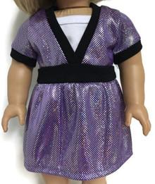 Short Sleeved Top-Purple Metallic