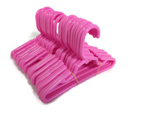 24 Plastic Hangers-Pink for Wellie Wishers Dolls