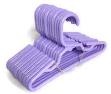12 Plastic Hangers-Lavender for Wellie Wishers Dolls
