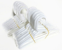 24 Plastic Hangers-White for Wellie Wishers Dolls