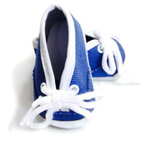 Canvas Tennis Shoes-Blue Denim