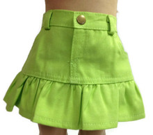 Ruffled Skirt-Lime Green